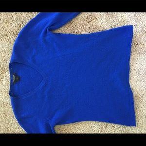 Ann Taylor Cashmere Sweater Blue Medium
